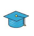 cap graduation to ceremony sucess vector image