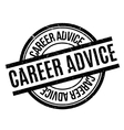 Career Advice rubber stamp vector image vector image