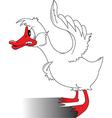 Cartoon goose vector image vector image