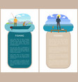 catching fish in river or lake hobby and sport vector image