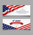 celebration flag america independence day banner vector image vector image