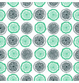 citrus seamless pattern hand drawn fruit vector image vector image