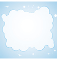 cloud border background vector image vector image