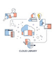 cloud library cloud library vector image