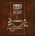 coffee pattern coffeecup drink and vector image vector image