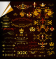 collection of ornaments in gold color vector image