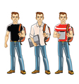 College Student Boy vector image vector image