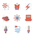 Colored flat icons for saving energy vector image vector image