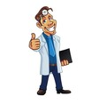 Cool Medical Doctor Cartoon vector image vector image