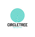 cut a tree in circle shape and vector image vector image