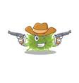 cute handsome cowboy haploviricotina cartoon vector image vector image