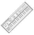 dark monochrome contour piano roll synthesizer vector image