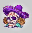 dia de muertos mexican sugar skull vector image vector image