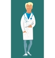Doctor with stethoscope around his neck in uniform vector image vector image