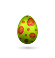 easter egg 3d icon red green color egg isolated vector image vector image