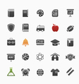 Education symbol icon set