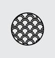 fish scales logo pattern vector image vector image