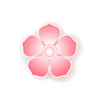 flat colorful icon of sakura flower vector image