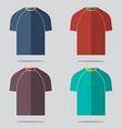 Flat Design T-Shirt Set vector image