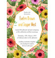 floral of wedding invitation vector image vector image