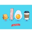 funny cartoon Funny cup egg bacon vector image vector image