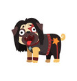 funny pug dog character dressed as rocker vector image vector image