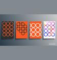 geometric minimal shape design or flyer poster vector image