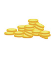 gold coins currency cash money vector image vector image