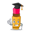 graduation lipstick character cartoon style vector image vector image