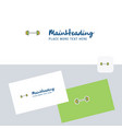 gym rod logotype with business card template vector image