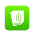 home construction project icon digital green vector image