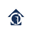 home protection logo design template vector image