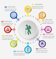 infographic template with trekking icons vector image vector image