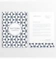 letterhead front and back design vector image vector image