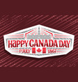 logo for canada day vector image vector image