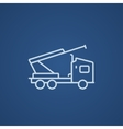 Machine with a crane and cradles line icon vector image vector image
