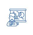 marketing director line icon concept marketing vector image vector image