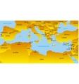 Mediterranean region vector image vector image