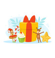 merry christmas cute tiny kids celebrating vector image vector image