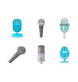 microphone icon set cartoon style vector image vector image