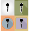 music items and equipment flat icons 04 vector image vector image