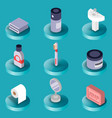 personal hygiene flat isometric icons vector image
