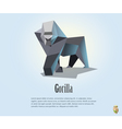 polygonal of gorilla wild animal icon vector image