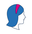 profile woman avatar with blue hair image vector image vector image