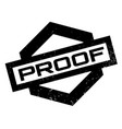 proof rubber stamp vector image vector image
