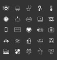 Quality life line icons on gray background vector image vector image