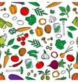 Seamless fresh and pickled vegetables pattern vector image vector image