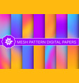 set a collection abstract neon vector image vector image