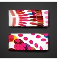 Set of modern design banner template in abstract vector image vector image