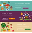 Set of modern flat design farm and agriculture vector image vector image